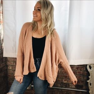 Pink Chunky Sweater Oversized American Rag